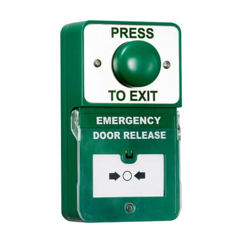 TSS Dual Push to Exit & Emergency Door Release w/Dome Button