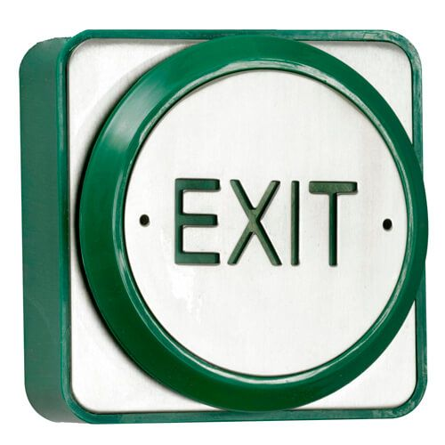 TSS Large Push Plate Exit Button